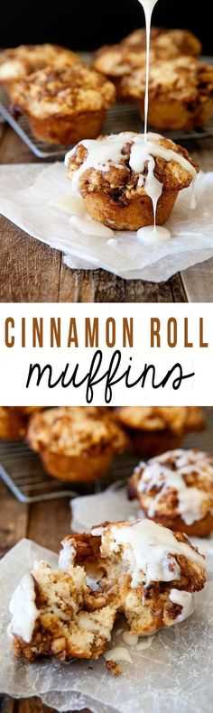 Eat Stop Eat To Loss Weight - Cinnamon Roll Muffins - Easier than a cinnamon roll but with the same delicious flavor! - In Just One Day This Simple Strategy Frees You From Complicated Diet Rules - And Eliminates Rebound Weight Gain Muffin Recipes, Baking Recipes, Breakfast Recipes, Dessert Recipes, Breakfast Muffins, Bread Recipes, Quick Dessert, Breakfast Ideas, Breakfast Dessert