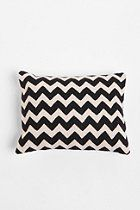 Crewel Embroidered Zigzag Pillow  #UrbanOutfitters $39