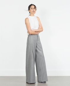 Image 1 of FUNNEL NECK TOP from Zara