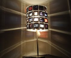 Cosmic Designs: 35mm Slides Lamp Shade