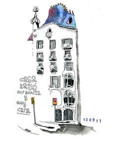 212 dibujos para descubrir la ciudad de Barcelona - De Amaia Arrazola.