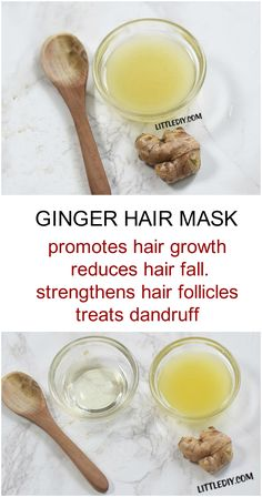 Hair Remedies GINGER HAIR MASK FOR HAIR GROWTH - Ginger root is quite popular when it comes to natural remedies for health, hair and skin. Ginger is a quite potent ingredient and has tremendous hair growth benefits that can actually give you visible Reduce Hair Fall, Oil For Hair Loss, Hair Loss Treatment, Hair Treatments, Treatment Rooms, Natural Treatments, Tips Belleza, Ginger Hair, Hair Oil