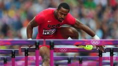 Jeff Porter of the United States competes in the men's 110m Hurdles Round 1 Heats on Day 11 of the London 2012 Olympic Games at the Olympic Stadium.