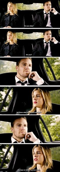"""You know what you have to do"" - Pissed off Felicity and Oliver #Arrow ((Angst everywhere!! Who's gonna die??))"