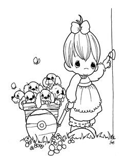 precious moments birthday coloring page bing images - Fill In Coloring Pages