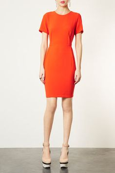 This would brighten up my office! Crepe Seam Shift Dress - Topshop