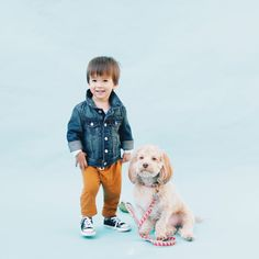 spring time layers mean a classic jean jacket and comfy, colorful bottoms from babyGap.