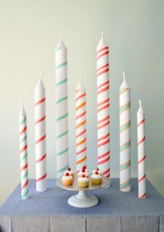 DIY Giant Birthday Candles