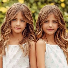 The eight-year-old twins Leah Rose and Ava Marie Clement are responsible for Beautiful Little Girls, Cute Little Girls, Beautiful Children, Beautiful Eyes, Twin Baby Girls, Cute Baby Girl, Baby Twins, Babies, Twin Models