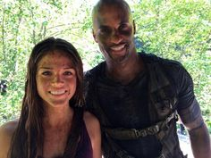 The 100 cast behind the scenes || Marie Avgeropoulos and Ricky Whittle || Octavia Blake and Lincoln || Linctavia