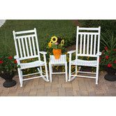 Found it at Wayfair - 3 Piece Adult Slat Seat Porch Rocking Chair and Table Set