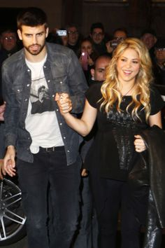 Shakira & Gerard Piqué He's a professional footballer. She's a professional singer/dancer. They are both professional babes.