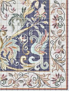 Cross Stitch Borders, Cross Stitch Rose, Cross Stitch Designs, Cross Stitching, Cross Stitch Embroidery, Cross Stitch Patterns, Hand Work Embroidery, Embroidery Patterns, Beaded Banners