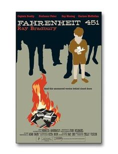 Fahrenheit 451 - It's required reading in high school english for the moral of the book. Everytime I pass a firehouse I wonder where the mechanical hound is and if it's sleeping. Sci Fi Books, Film Books, Reading Lists, Book Lists, Fahrenheit 451, Faber, Into The Fire, World Literature, What Book