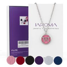 JAROMA Premium Butterfly Aromatherapy Essential Oil Diffuser Necklace Locket Pendant, Hypo-allergenic 316L Surgical Grade Stainless Steel Jewelry with 24' Chain and 10 Washable Pads * Tried it! Love it! Click the image. : aromatherapy diffuser