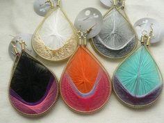 Handmade Thread Earrings, String Art, Peruvian Thread Earrings, Woven Earrings  valentines day gift for her valentines gifts idea by Goodafter6 on Etsy https://www.etsy.com/hk-en/listing/176709029/handmade-thread-earrings-string-art