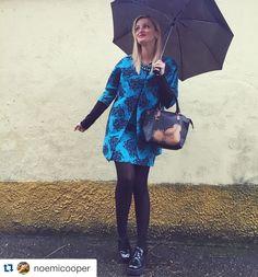 @noemicooper con Hanita alla #MFW 2016  Outfit: #totallook Hanita S/S 2016