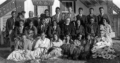 Catholic Maori Choir, Rotorua (no date) Maori People, New Zealand Houses, Maori Art, Church History, Historical Images, Local History, South Pacific, Priest, Choir