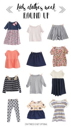 kids clothes week round up | craftiness is not optional