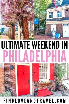 You guide on how to spend an epic weekend in Philadelphia! This Philly itinerary covers days worth of the best things to do in Philadelphia. Usa Travel Guide, Travel Usa, Travel Guides, Travel Tips, Philadelphia Things To Do, Visit Philadelphia, Historic Philadelphia, Weekend Trips, Weekend Getaways