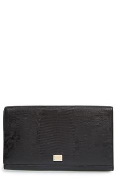 Dolce&Gabbana 'Oversized Day' Lizard Embossed Clutch available at #Nordstrom