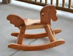 Rocking Horse Redwood Handcrafted and Heirloom Quality