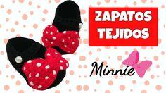 Zapatitos de Minnie mouse tejidos a crochet   0-3 meses