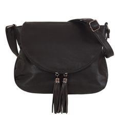 -28% SALE! CZARNA modna pojemna torebka klapa frędzle boho kod     509  : Batica