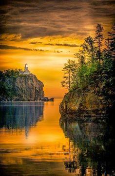 Lake Superior- North America -Sunrise - Lake Superior           <3