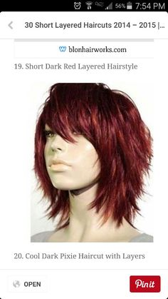 30 Short Layered Haircuts 2014 – 2015 Latest Bob HairStyles Page 5 Short Hair With Layers, Short Hair Cuts, Short Hair Styles, Hair Cuts Edgy, Hair Layers Medium, Shag Hair Cut, Long Choppy Layers, Edgy Hair, Short Layered Haircuts