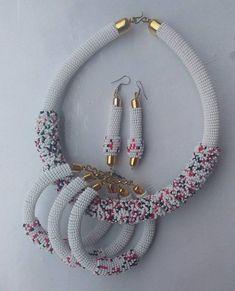 Pearl Necklace Set for Ladies - Jewellery Set - African Beads Jewellery Set - Tribal J. Orange Pearl Necklace Set for Ladies - Jewellery Set - African Beads Jewellery Set - Tribal Jewellery Set - Zulu Necklaces - Maasai Necklaces - Your Present African Beads, African Jewelry, Tribal Jewelry, Beaded Jewelry, Handmade Jewelry, Beaded Necklace, Beaded Bracelets, Women's Jewelry Sets, Womens Jewelry Rings