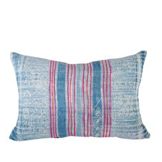Handwoven Hmong Textile Pillow 1420--2 for dr with other print as 3rd??