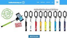 NIEUW: www.selfiestickshop.nl goedkoopste selfiestick in één duidelijk en overzichtelijke webshop! Selfie stick al vanaf EUR 2,50 per stuk! Kijk snel! #relatiegeschenk #productvandedag