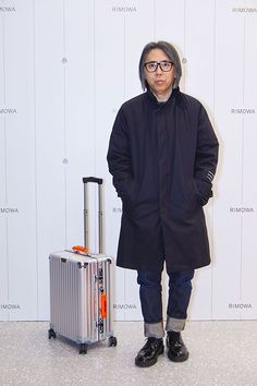 Over the weekend, premium luggage provider RIMOWA celebrated the opening of its first flagship store in Japan, located in the Ginza district. Men's Fashion, Fashion Outfits, Fashion Design, Golden Apple, Rimowa, Orange Leather, Travel Luggage, Leather Accessories, Mens Clothing Styles