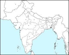 Map Of India Political.Outline Map Of India Map Of India With States Map Outline India