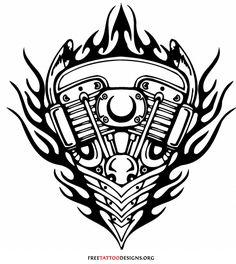 Motor tattoo design