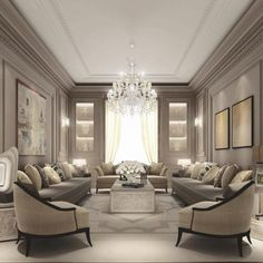 There are many elegant living room ideas that you might decide to get applied in your living room design. Because you have landed here then most probably you want Elegant living room answer. Classic Living Room, Elegant Living Room, Formal Living Rooms, Living Room Modern, Luxury Living Rooms, Small Living, Taupe Living Room, Cozy Living, Living Room Ideas Dubai