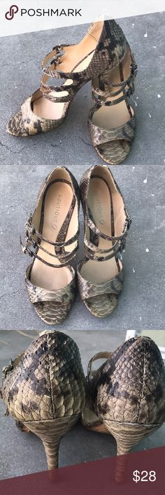 Croc Mary Janes Heels Boutique 9 Size 8.5 Croc Mary Janes Heels Boutique 9 Size 8.5 in good conditions.  Shows minimal wear on leather and sole.  Classy and elegant .  Fine material Boutique 9 Shoes Heels