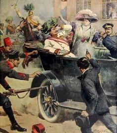 Sarajevo is de beginplaats van de eerste wereldoorlog,  hier werd kroonprins franz ferdinant in juni 1914 vermoordt. hij werd vermoord door de Servische nationalist gavrilo princip wanneer de chauffeur van de kroonprins uitwijikt van de route. dit was de aanleiding van de eerste wereldoorlog. na deze aanslag werd de ene na de andere oorlog verklaart en in 1917 met de deelname aan de oorlog van de V.S was het een echte wereldoorlog geworden.