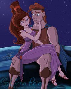 Megara & Hercules by ary Megara Disney, Disney Pixar, Disney Memes, Disney And Dreamworks, Disney Art, Pocahontas, Walt Disney, Disney Characters, Disney Princesses