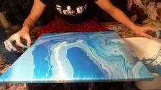 Fluid Painting - Monochrome Experiment - 01