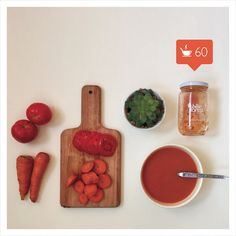 There's nothing like a delicious warm bowl of soup to make you feel better this winter. Try out our carrot and tomato soup for your dose of vitamin C! #billieintheforest #itsgreeneronthisside #bekindtoyourbody #souping