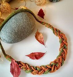 Heklet, flettet halskjede Crochet Earrings, Jewelry, Fashion, Jewlery, Moda, Jewels, La Mode, Jewerly, Fasion