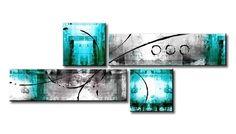 MS_003 / Cuadro Abstracto turquesa
