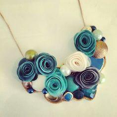 #deepblue #felt #feltnecklace #necklace #unique #handmade #mustrica #etsymustrica