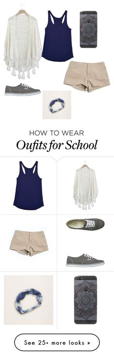 """""""School life"""" by gretchenlover on Polyvore featuring Chicwish, J.Crew, Vans and Aerie"""