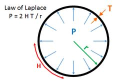 Illustrates the Law of Laplace for pressure.  Play with the science behind this equation at vCalc.com  #physics #science #mechanics  Simple physics principle of mechanics and application in mechanical engineering.  See the equation in vCalc, which has thousands of free, executable equations in mathematics, science, industrial applications and hobbies