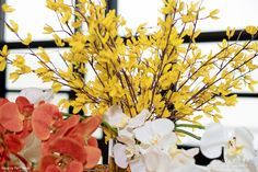 Yellow, Coral and White Floral concept! Event Decor, Afro, Coral, Bloom, Concept, Make It Yourself, Contemporary, Yellow, Chic