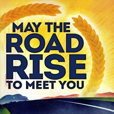 May the Road Rise Painting Print on Wrapped Canvas