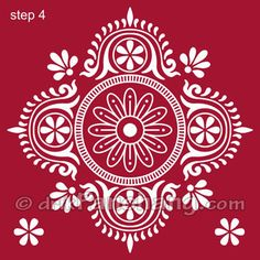 Bengali traditional art - alpona for floor design - mumbairock, Rangoli is bengal is known as alpana and its a natural representation of the artistic sensibility of the people. Rangoli Designs Images, Beautiful Rangoli Designs, Diwali Designs, Traditional Rangoli, Traditional Art, Home Design, Floor Design, Rangoli Painting, Bengali Art